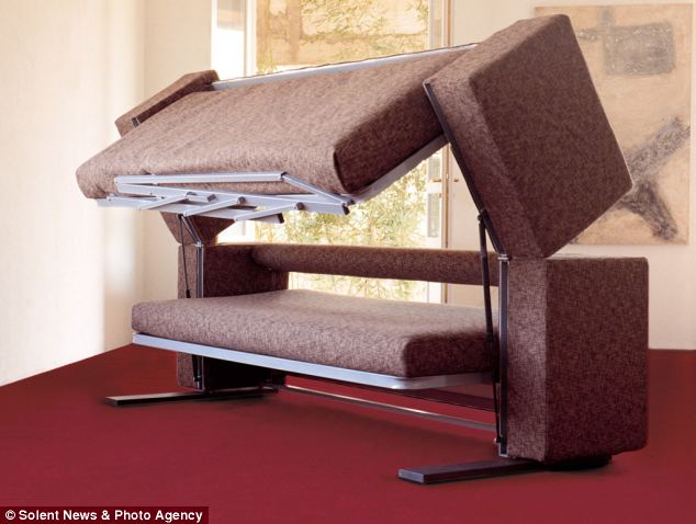 Image of: couch bunk beds design