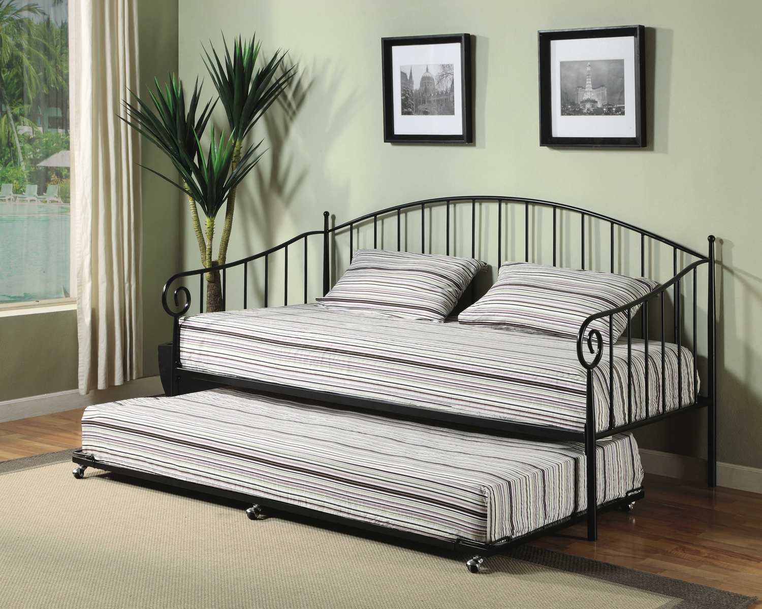 Image of: design of twin metal bed frame