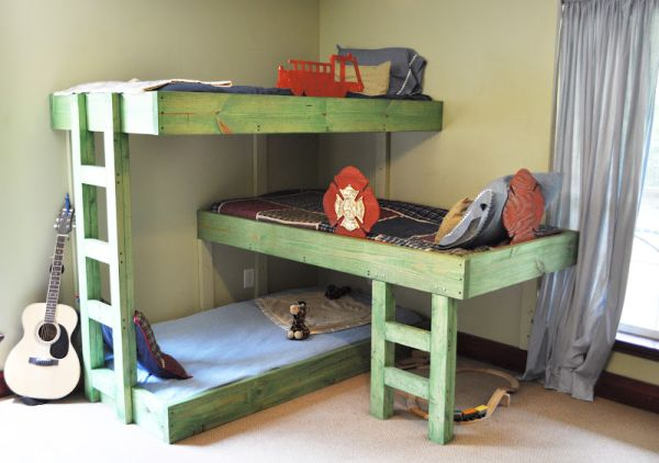 Image of: diy bunk beds decor
