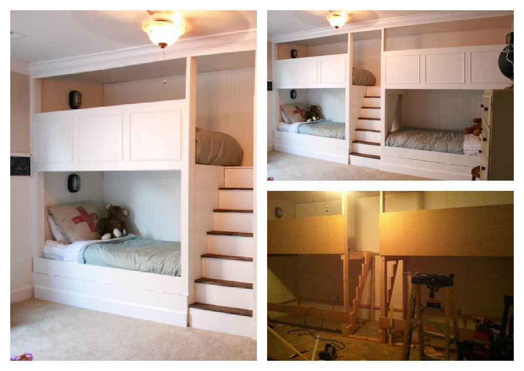 Image of: diy bunk beds inspiration