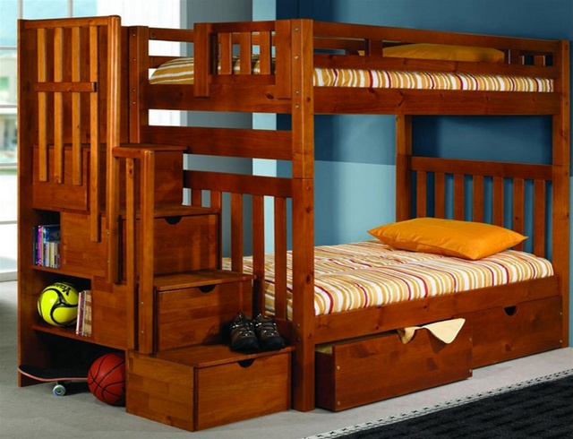 Image of: diy bunk beds storage