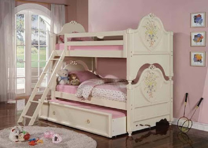 Image of: girl bunk beds color