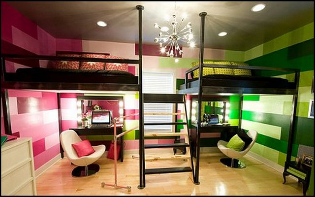 Image of: girl bunk beds ideas