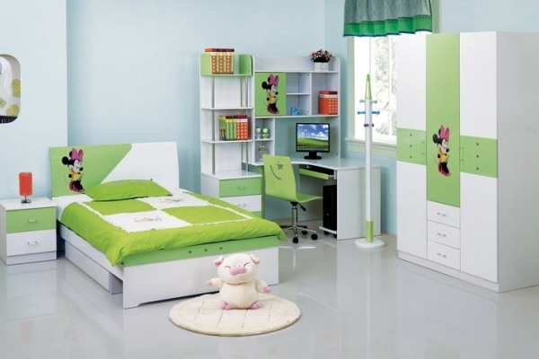 Image of: Green Kids Bedroom Furniture Sets For Girls