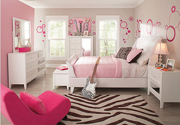 Image of: kids bedroom furniture sets for girls color
