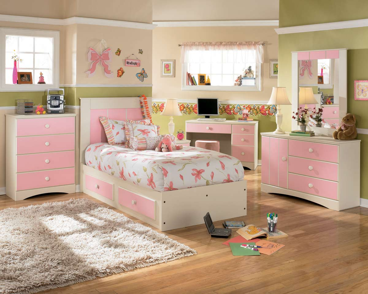 kids bedroom furniture sets for girls in color