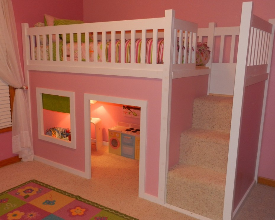 Image of: kids bunk beds for girls