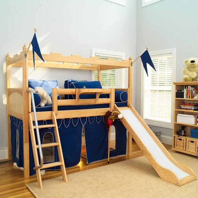 Image of: kids diy bunk beds