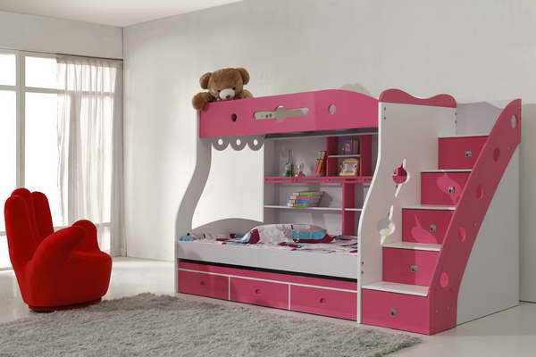 Image of: lovely girl bunk beds