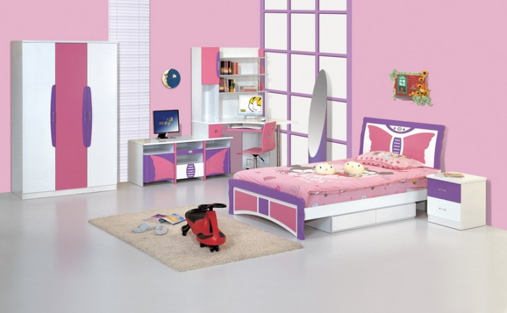 Image of: modern kids bedroom furniture sets for girls