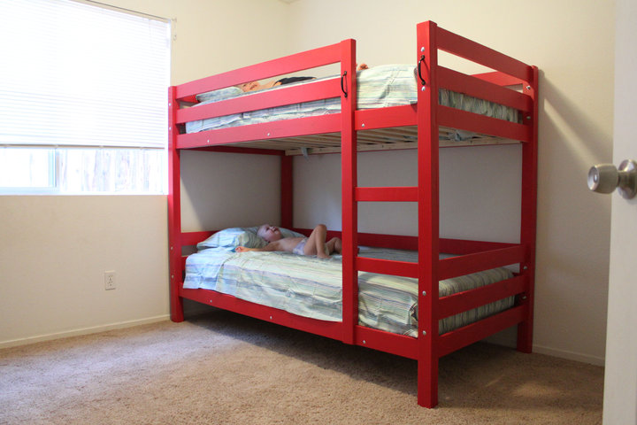 Image of: paint diy bunk beds