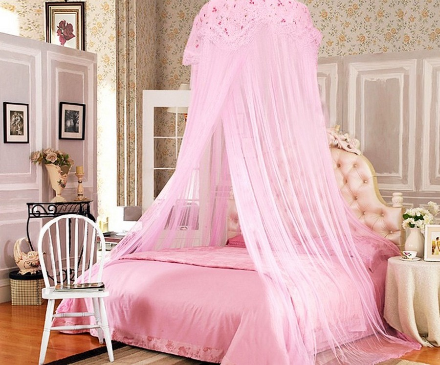 Image of: pink princess bedroom set