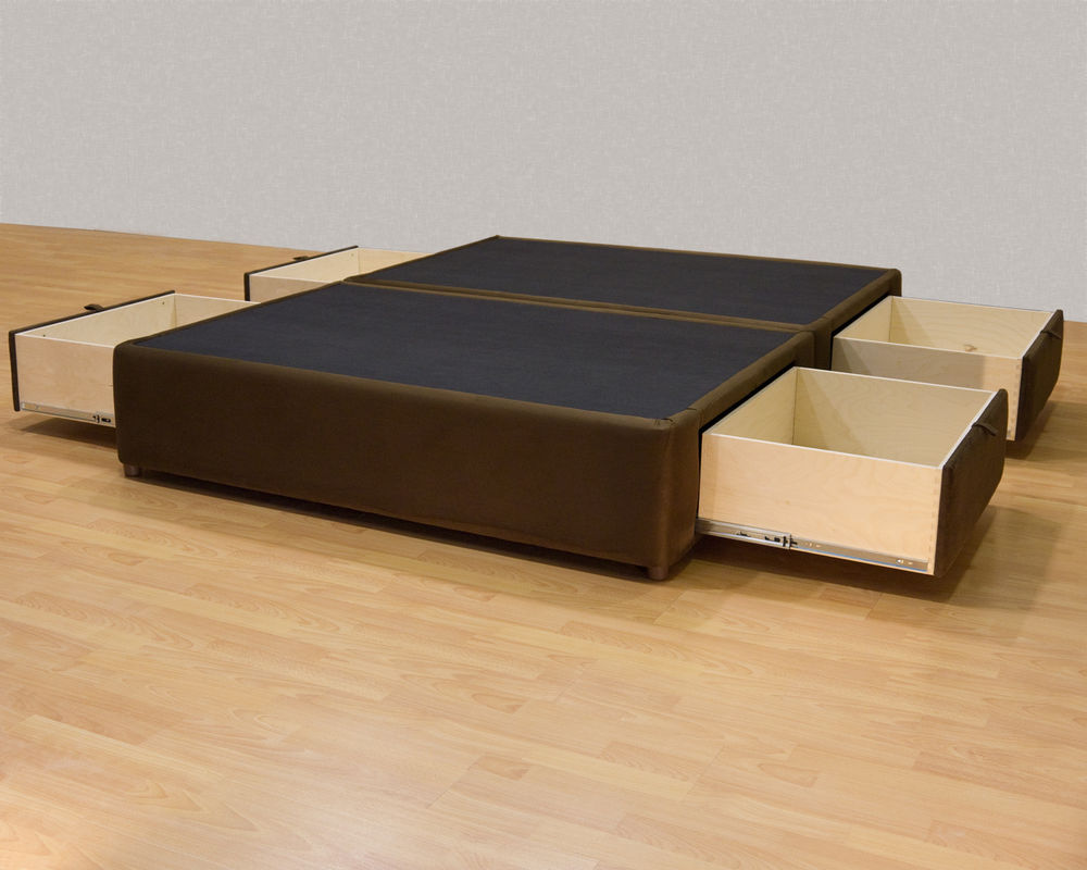 Image of: platform bed frame with storage