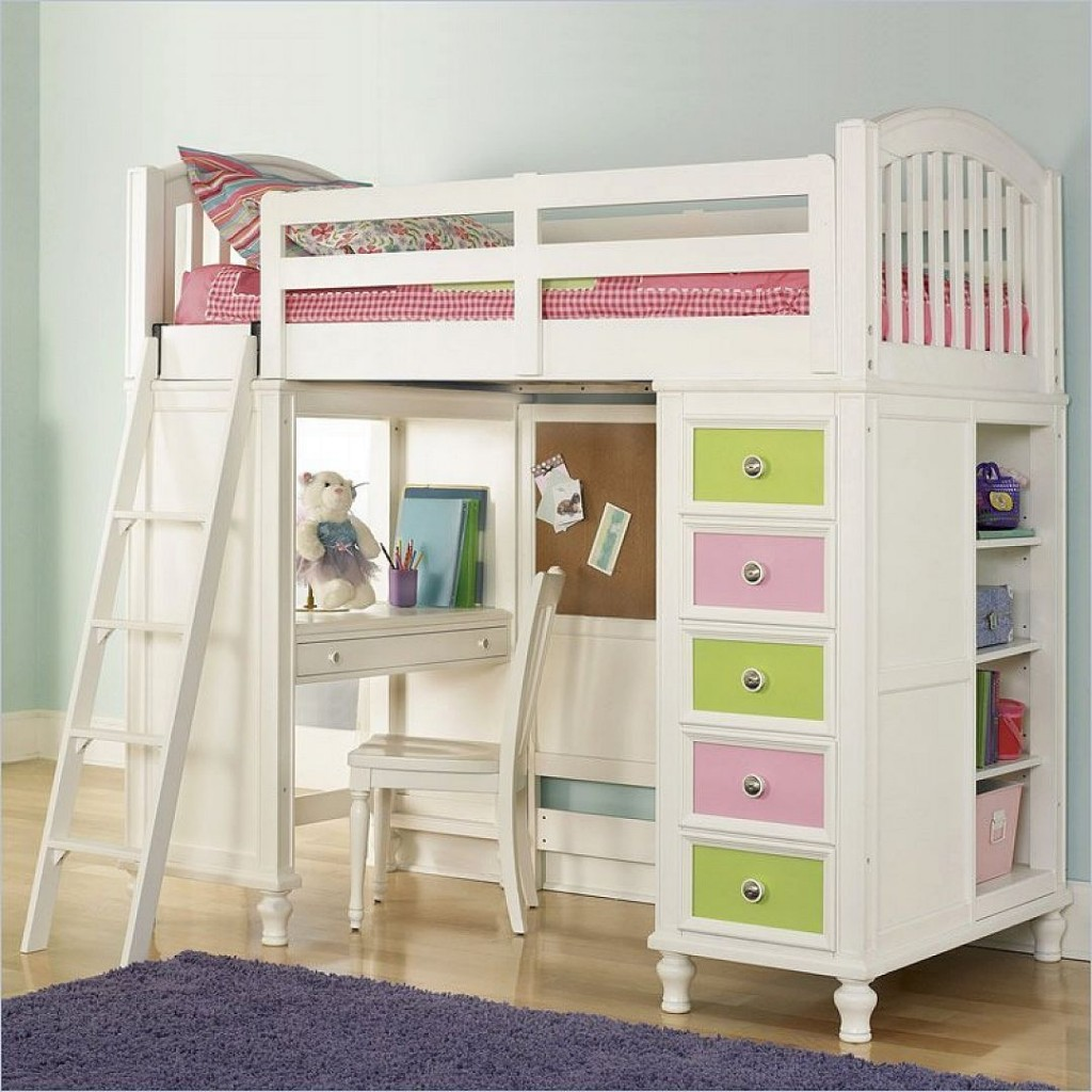 Image of: simple bunk beds for girls