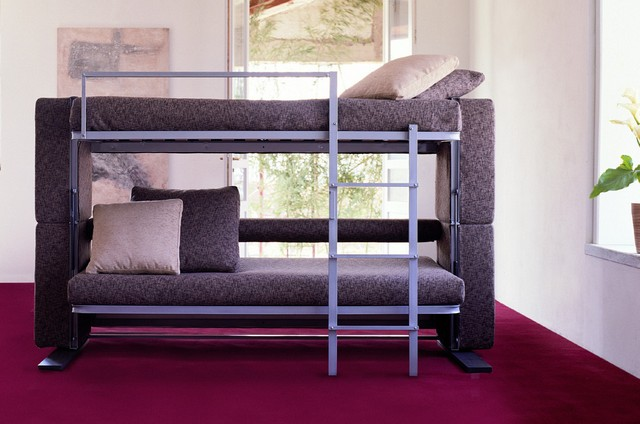 Image of: small couch bunk beds