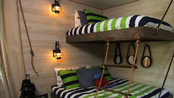 Image of: small diy bunk beds