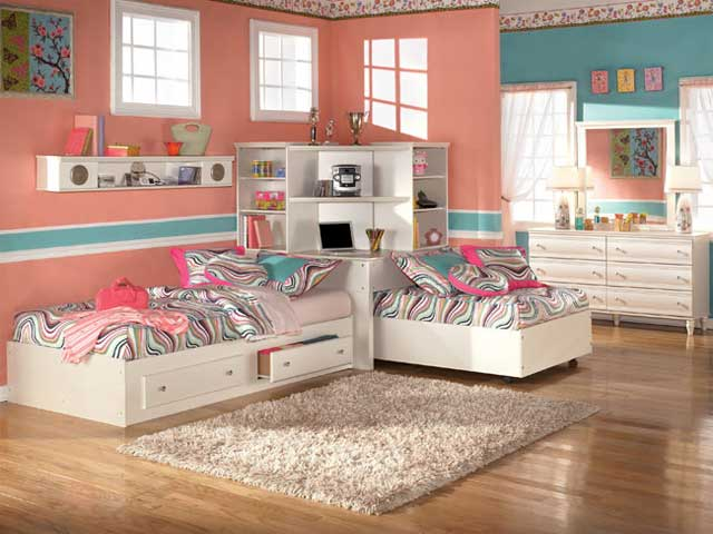 Image of: small kids bedroom furniture sets for girls