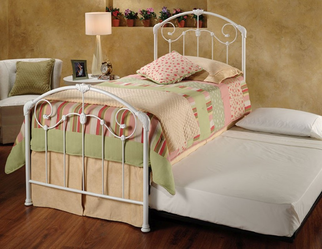 Image of: Small Twin Metal Bed Frame