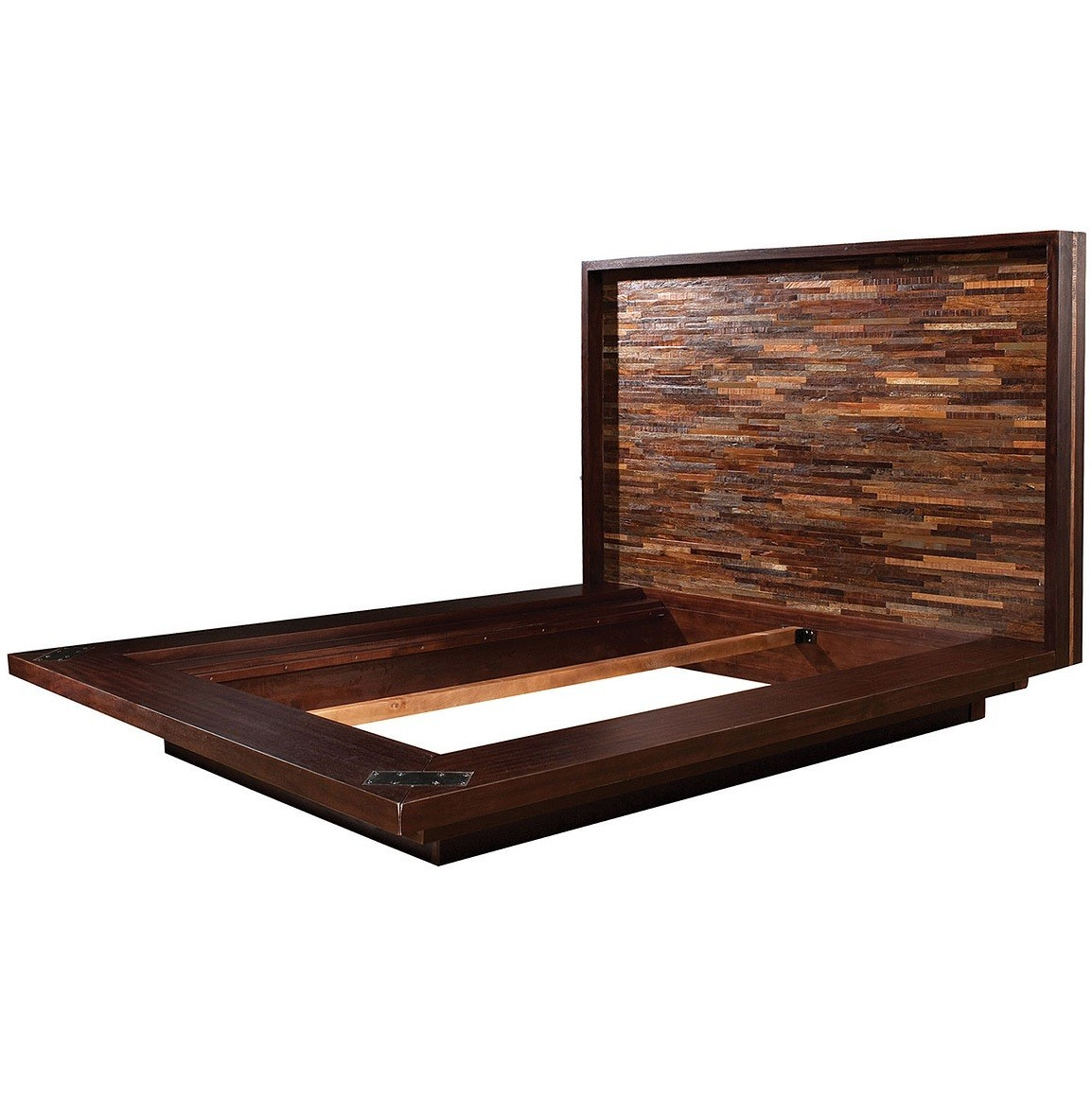 Image of: solid wood platform bed frame