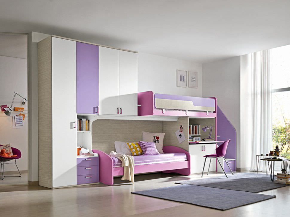 Image of: storage bunk beds for girls