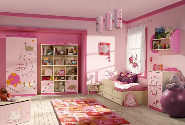Image of: trendy kids bedroom furniture sets for girls