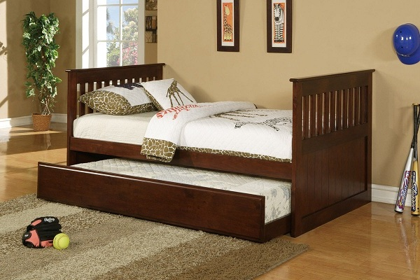 Image of: Twin Bed Frame with Storage Stylish