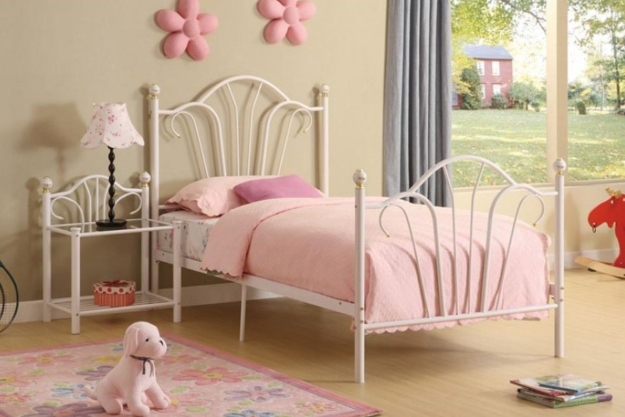 Image of: twin metal bed frame design