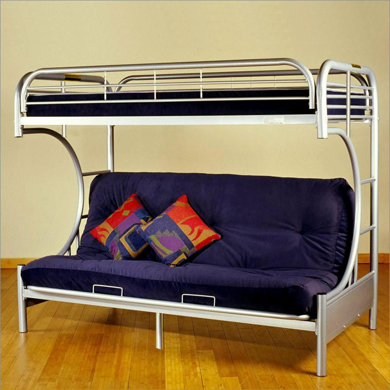 Image of: twin metal bed frame in silver