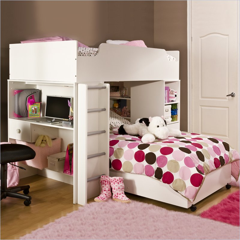 Image of: white bunk beds for girls
