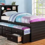 wooden  twin bed frame image