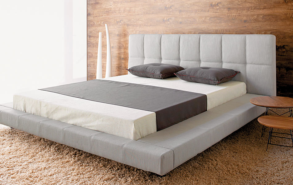 Image of: Low Profile Bed Frame King
