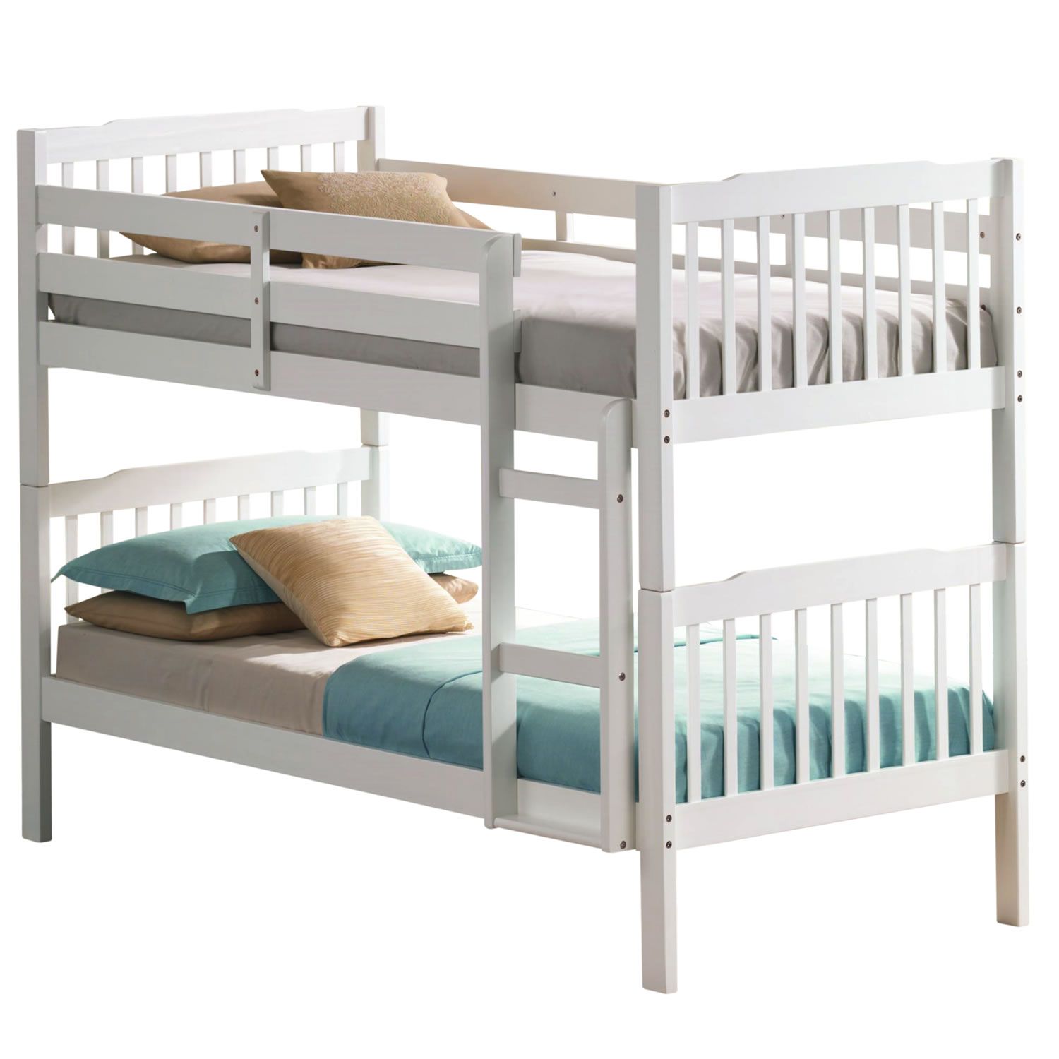Image of: White Bunk Beds Silver