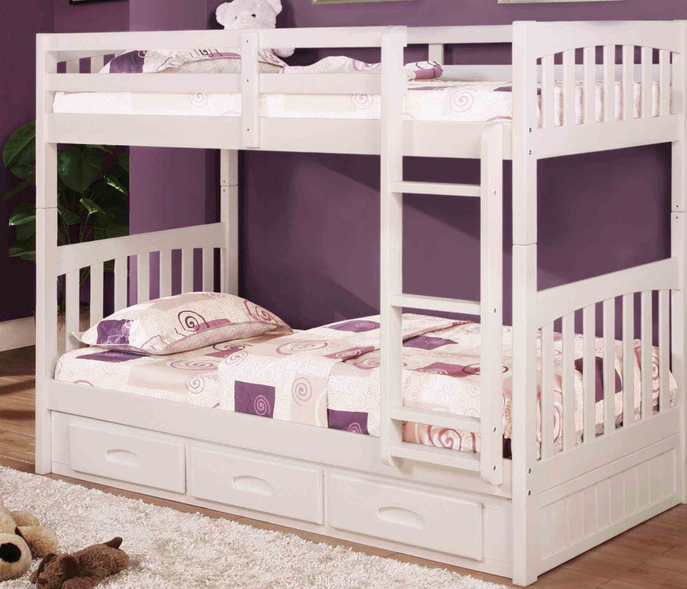Image of: White Bunk Beds Twintwint