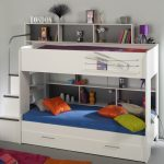 White Bunk Beds with Guest Bed