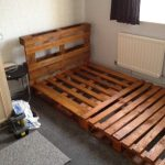 small wooden pallet bed