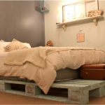 upcycled wooden pallet bed