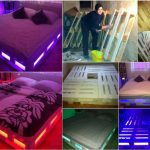 wooden pallet bed lighting
