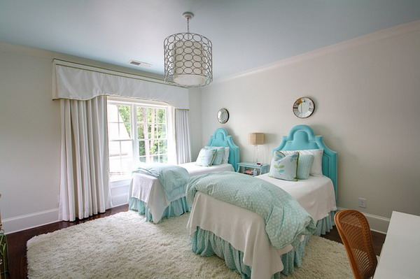 Image of: Girls twin bedroom ideas