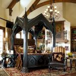 Gothic canopy bedroom sets