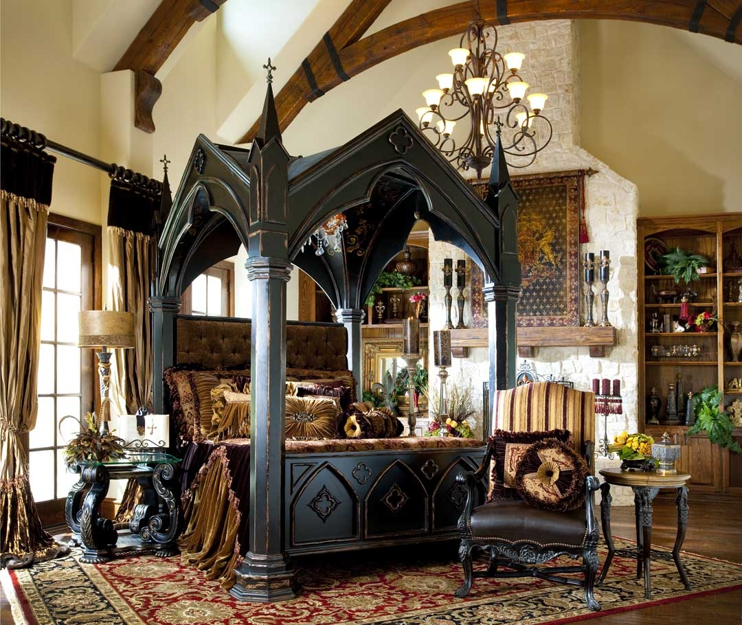 Image of: Gothic canopy bedroom sets