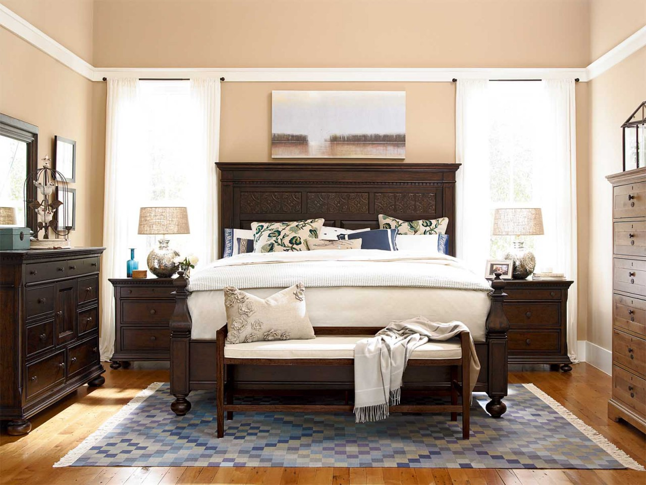 Image of: Paula deen bedroom furniture fixtures