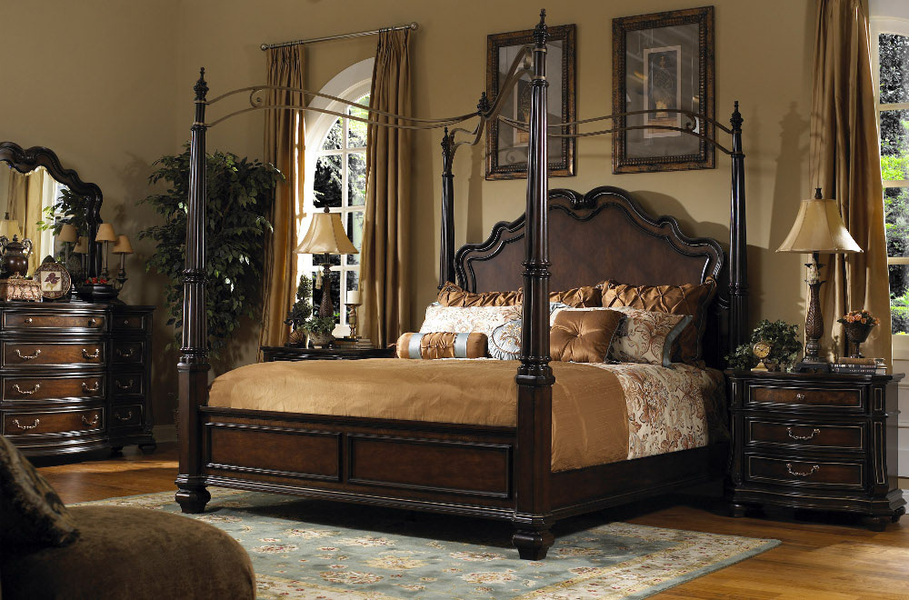 Image of: affordable canopy bedroom sets