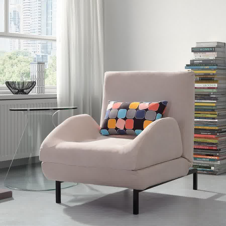 Image of: Classy Design of Single Sleeper Chair