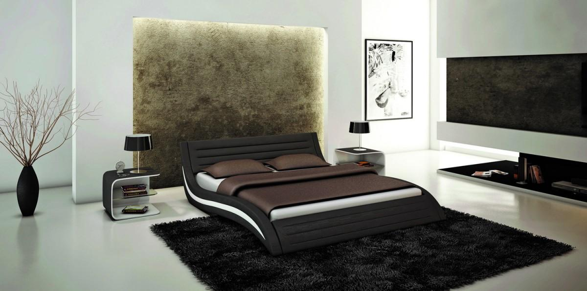 Image of: Black Contemporary Bed Frames