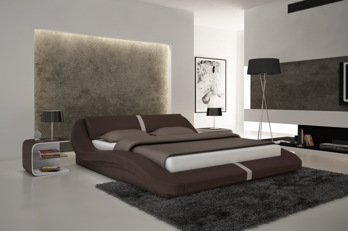 Image of: Brown Contemporary Bed Frames