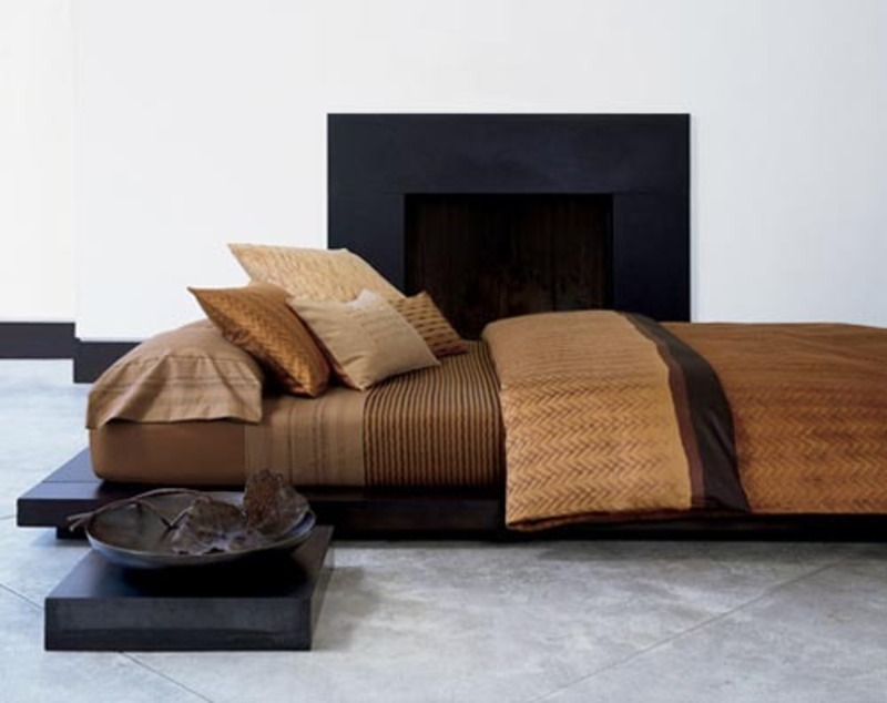 Image of: Brown Contemporary Luxury Bedding Ideas