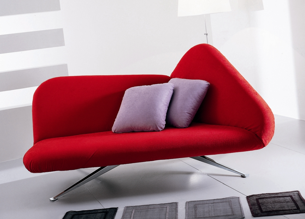 Image of: Color Red Contemporary Sofa Bed
