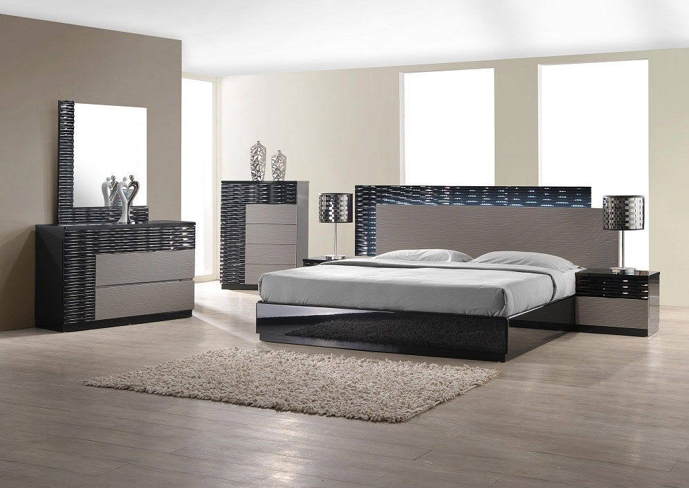 Image of: Contemporary Bed Set Black