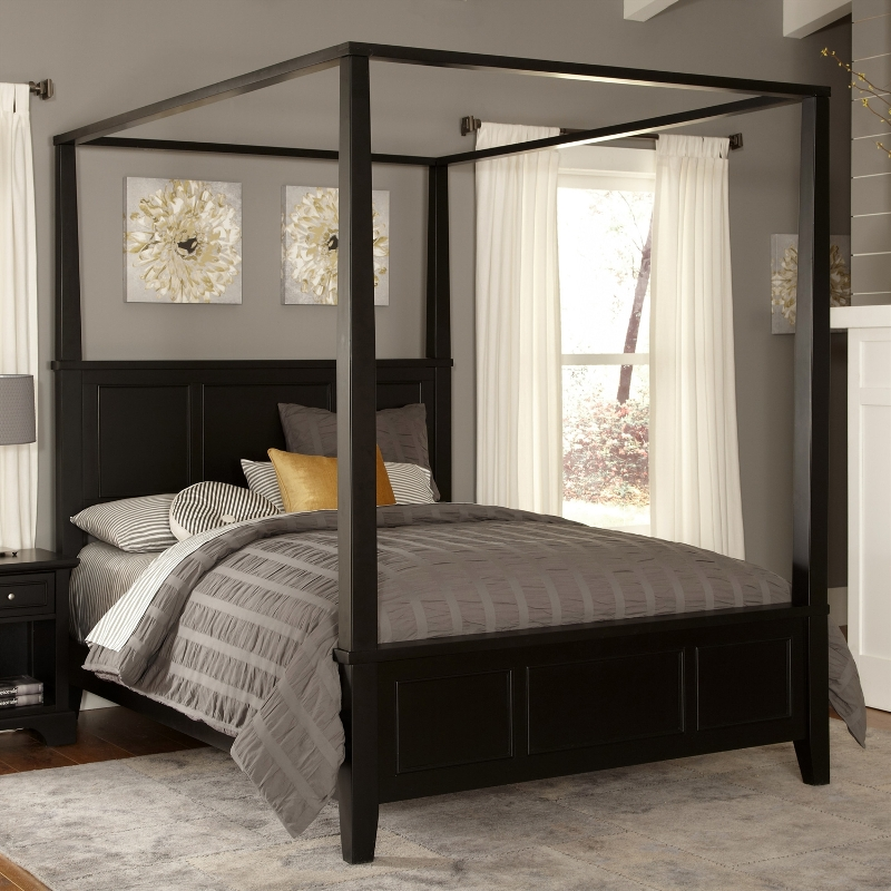 Image of: Contemporary Canopy Bed Design