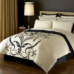 Contemporary Luxury Bedding with Lamp
